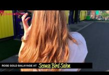 rose gold balayage at scouse bird salon